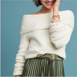 Anthropologie Natalia Off-the-Shoulder Sweater